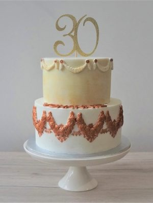gâteau 30 ans - anniversaire - chic - elegant